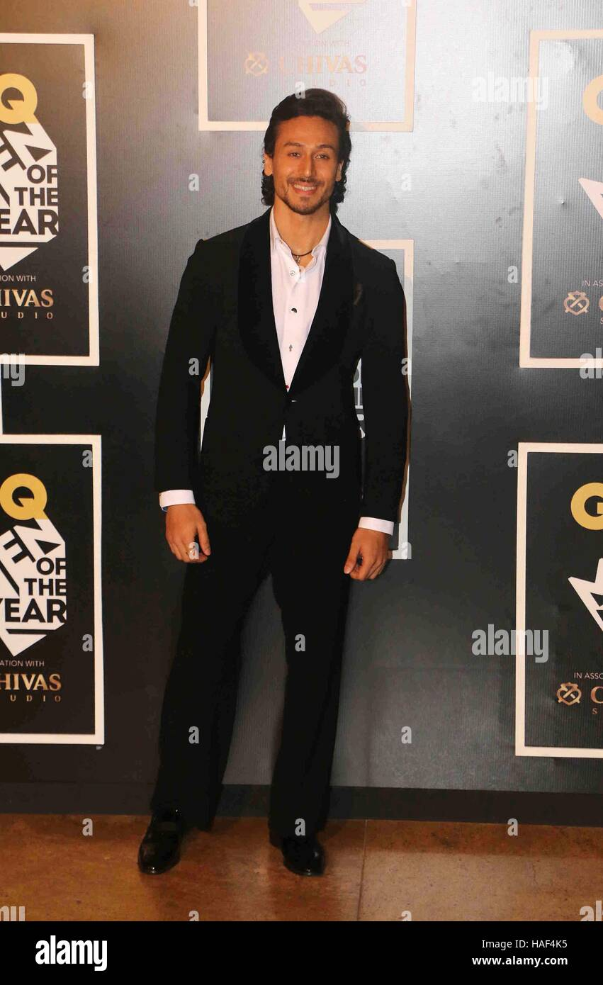 Bollywood actor Tiger Shroff during the GQ India Men of the year Award 2016 ceremony in Mumbai, India on September - Stock Image