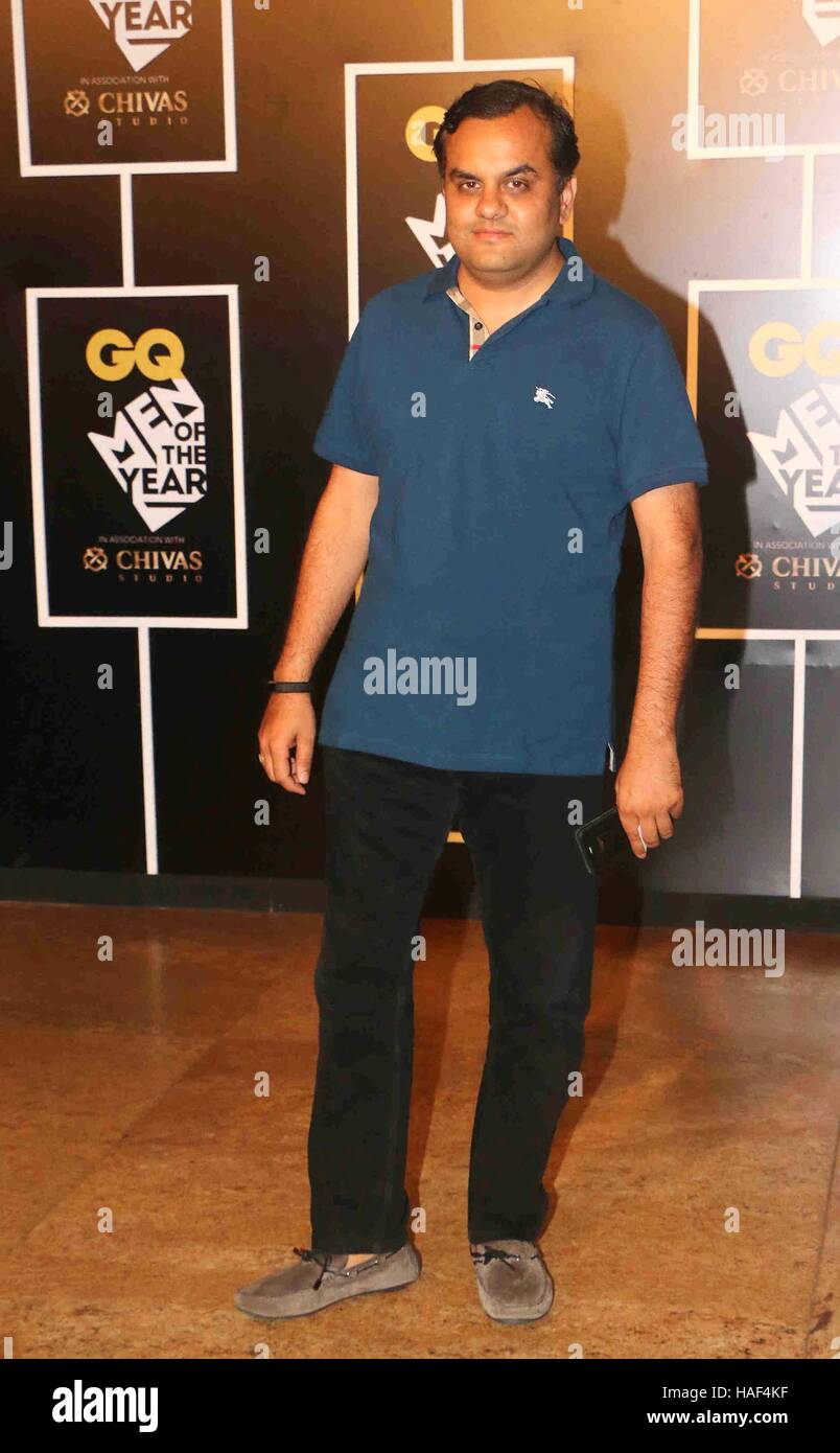 Anirudh Dhoot, Director, Videocon Group during the GQ India Men of the year Award 2016 ceremony in Mumbai - Stock Image