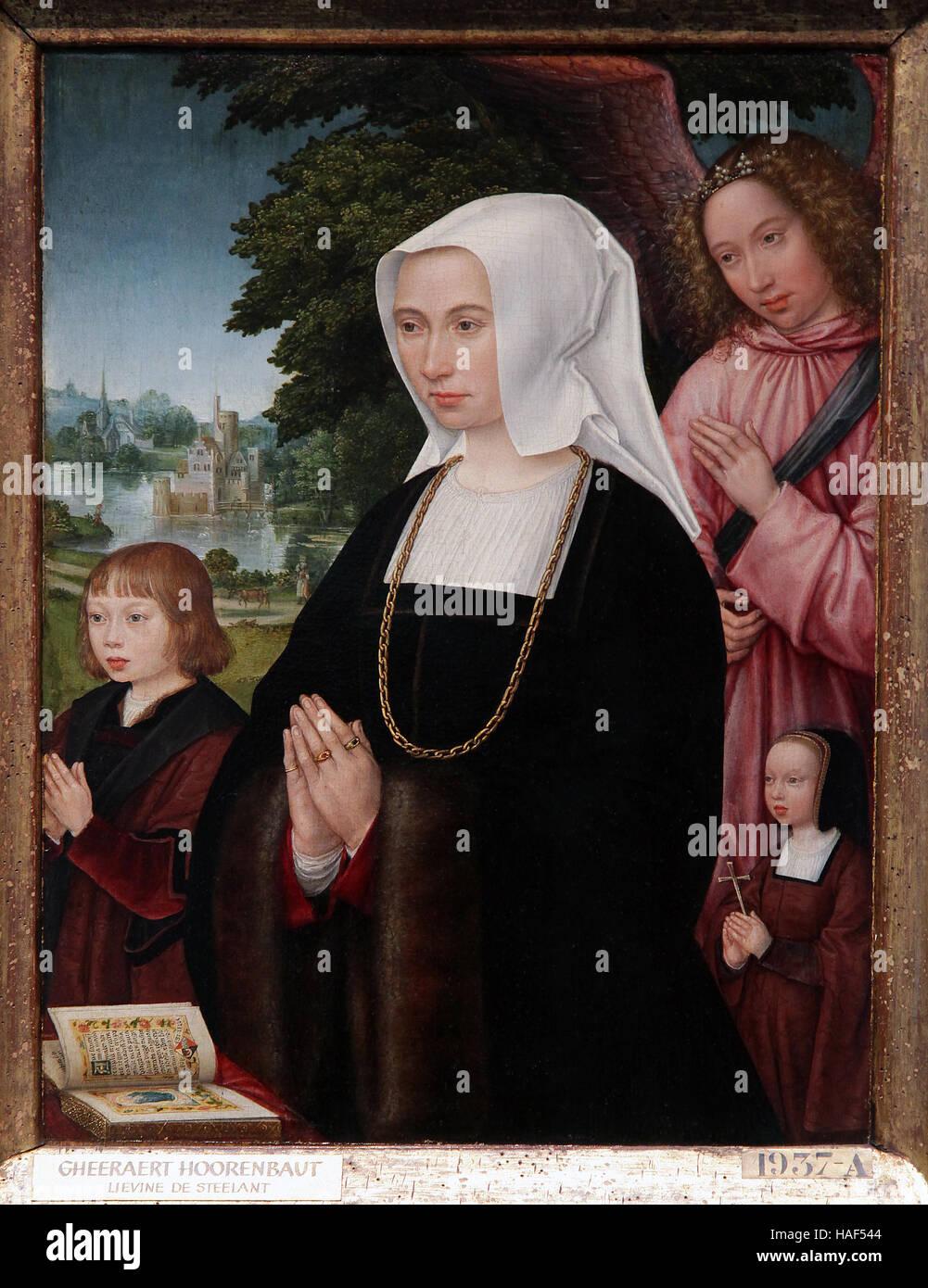 Gerard Horenbout 1465-1540 Portraits Lieven van Pottelsberghe Livina van Steelant - Stock Image