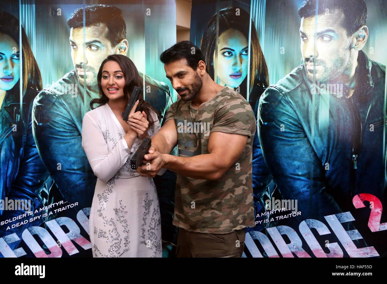 Bollywood Actors John Abraham And Sonakshi Sinha During The Trailer