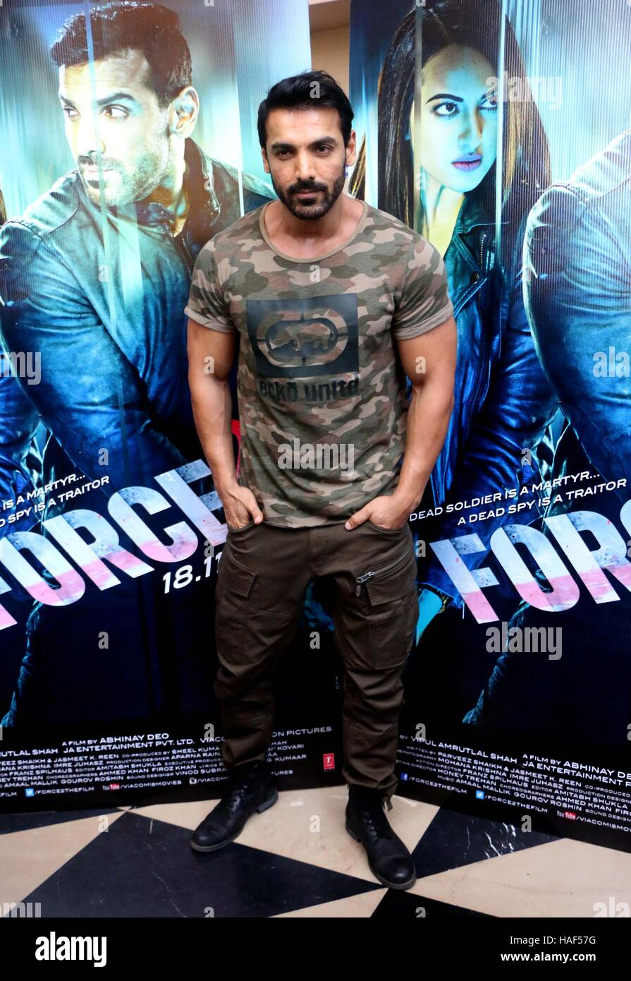 Bollywood Actor John Abraham During The Trailer Launch Of Film Force