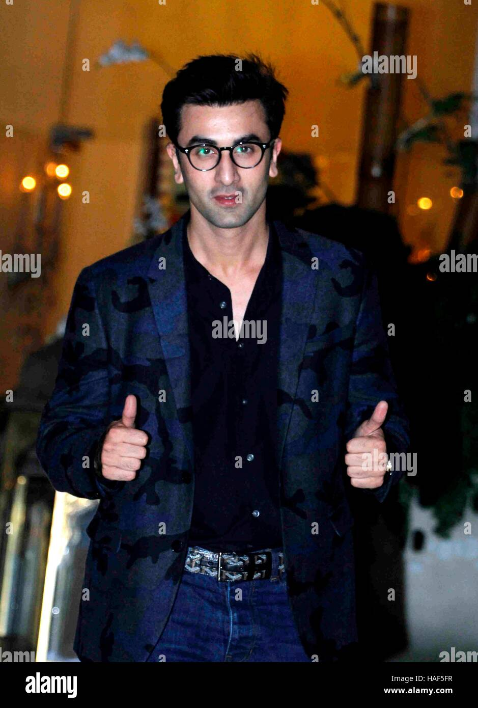 bollywood actor ranbir kapoor arrives at industrialist mukesh ambani