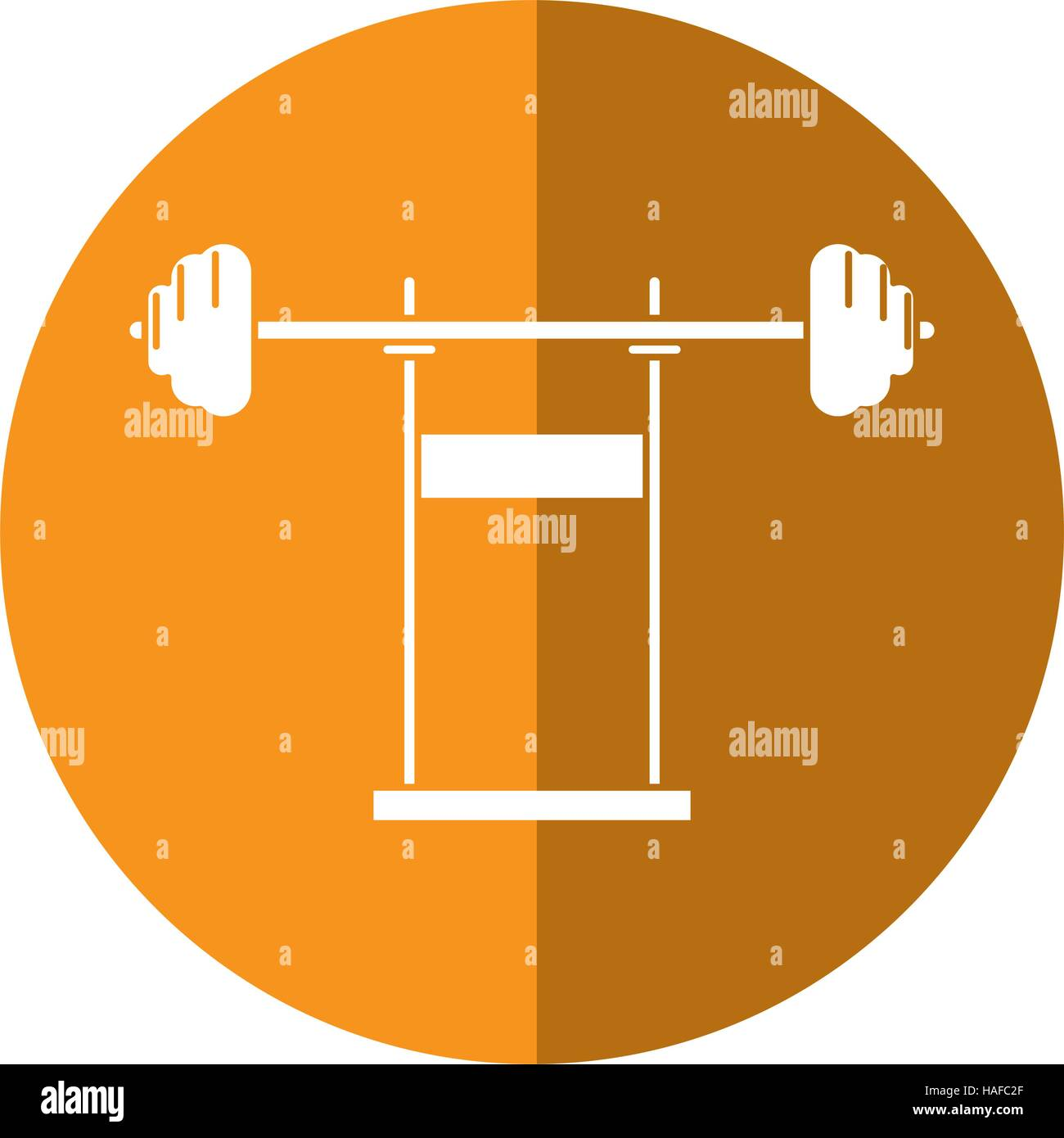 weight barbell equipment fitness gym shadow - Stock Vector