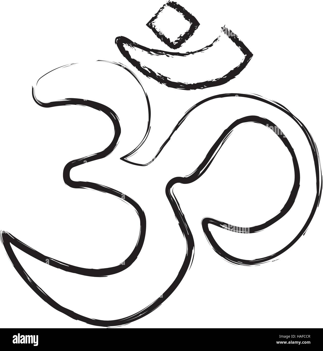 Hinduism Symbol Black and White Stock Photos & Images - Alamy