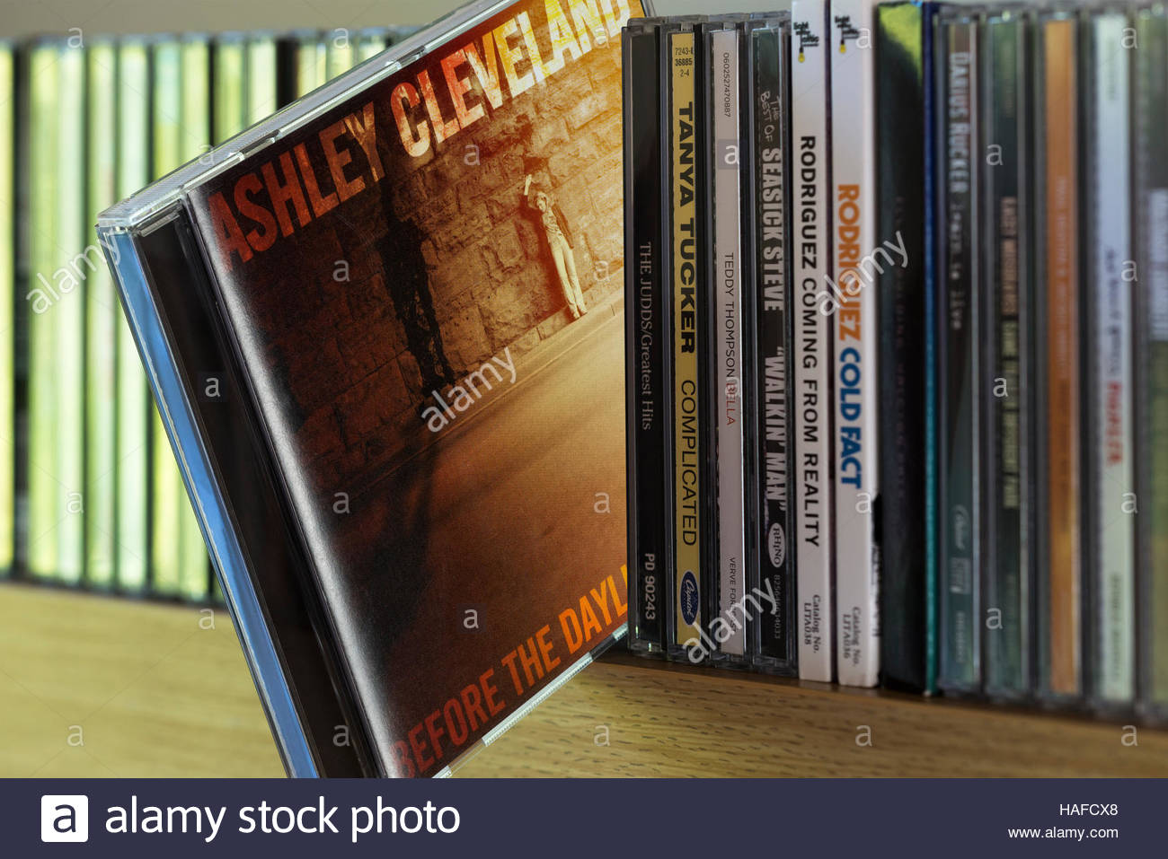 Before the Daylight's Shot, 2006 Ashley Cleveland CD pulled out from among other CD's on a shelf - Stock Image