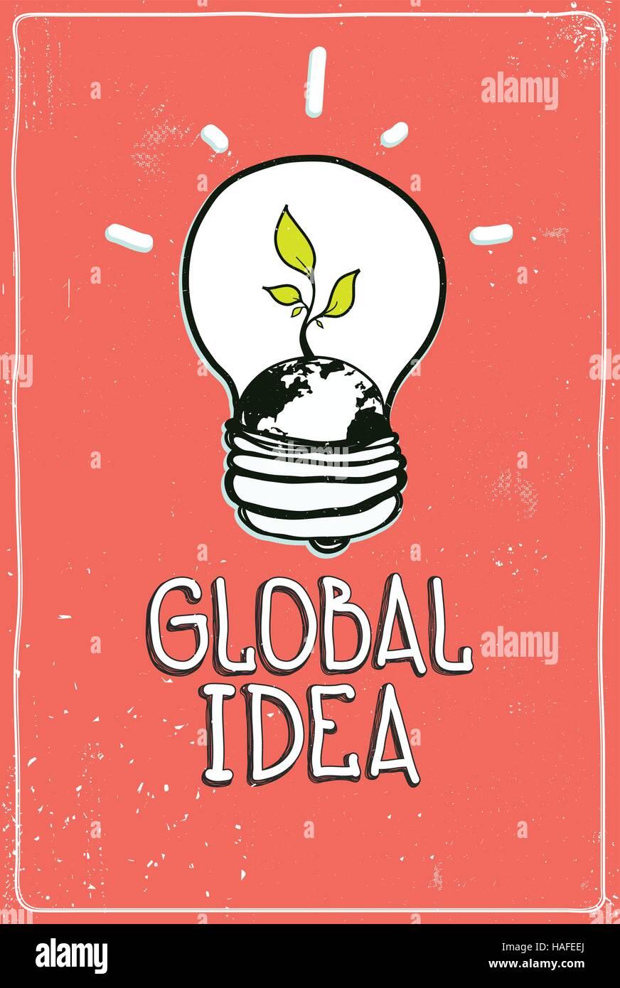 Global idea - Stock Vector