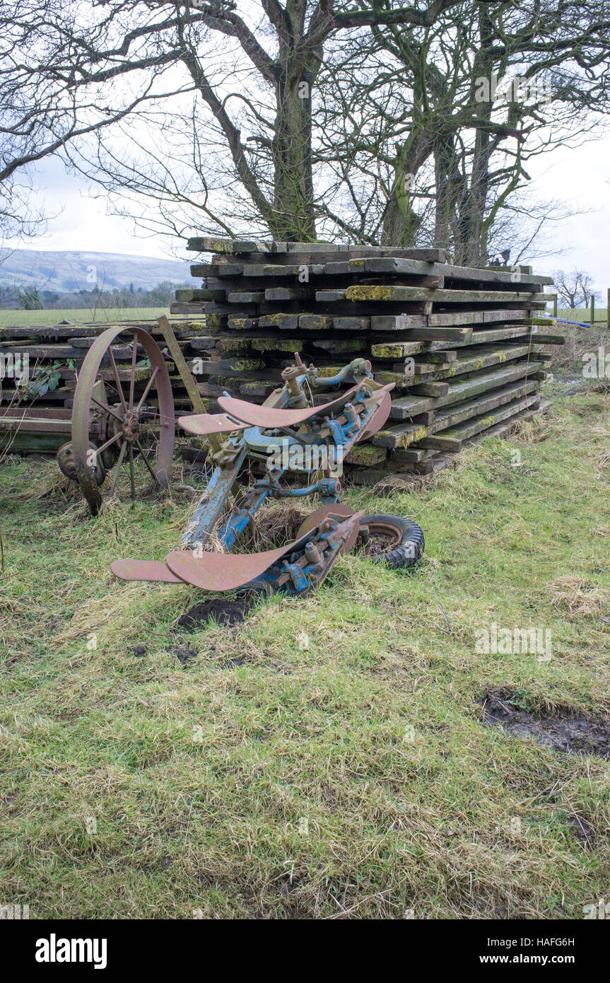 farm machinery of yesteryear - Stock Image