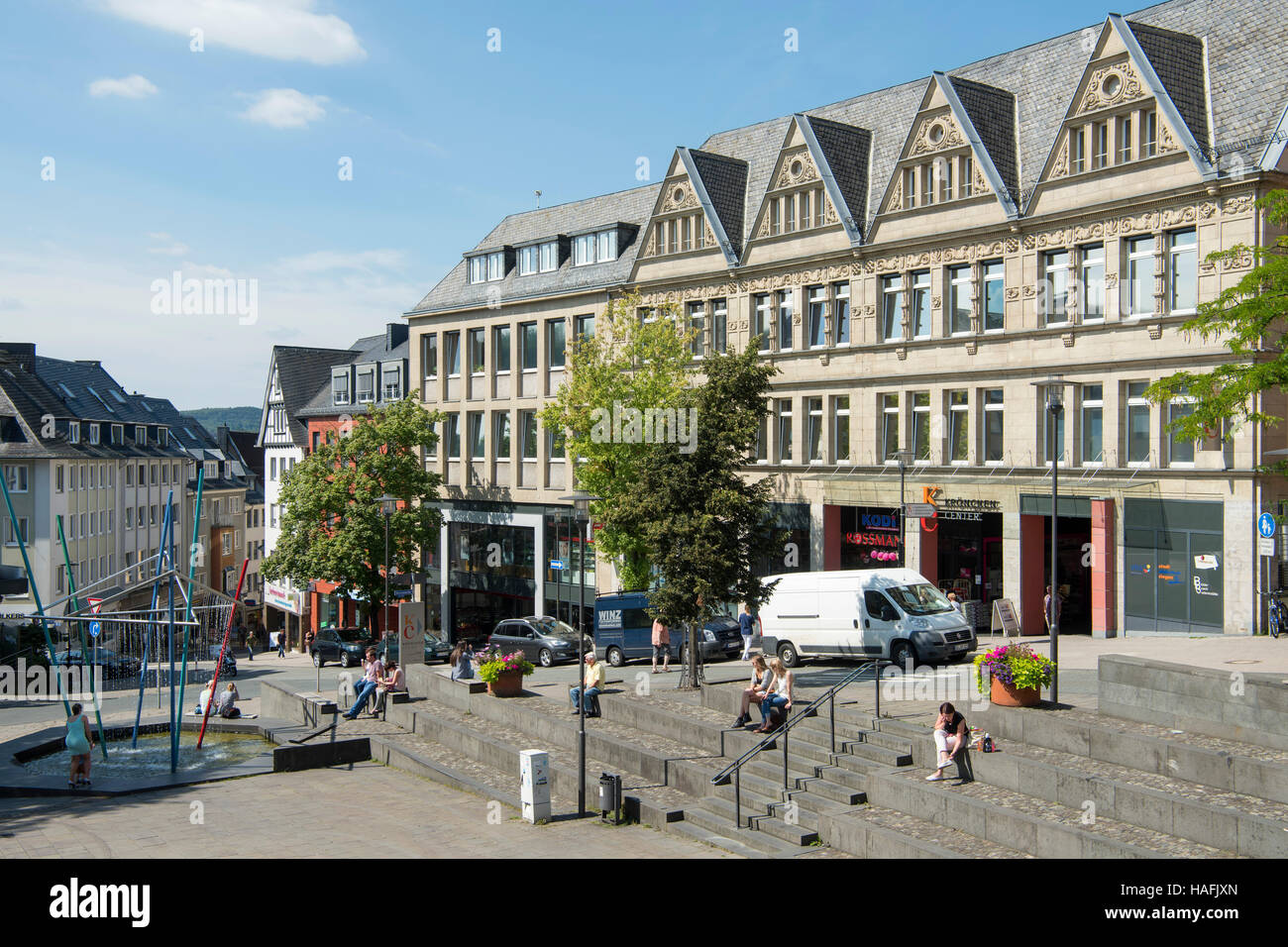 deutschland nrw siegen markt in der altstadt stock photo 126963277 alamy. Black Bedroom Furniture Sets. Home Design Ideas
