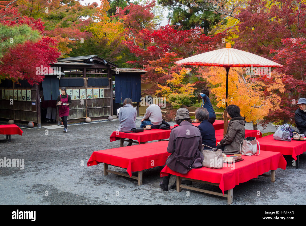 Japanese tea room Kyoto Japan - Stock Image