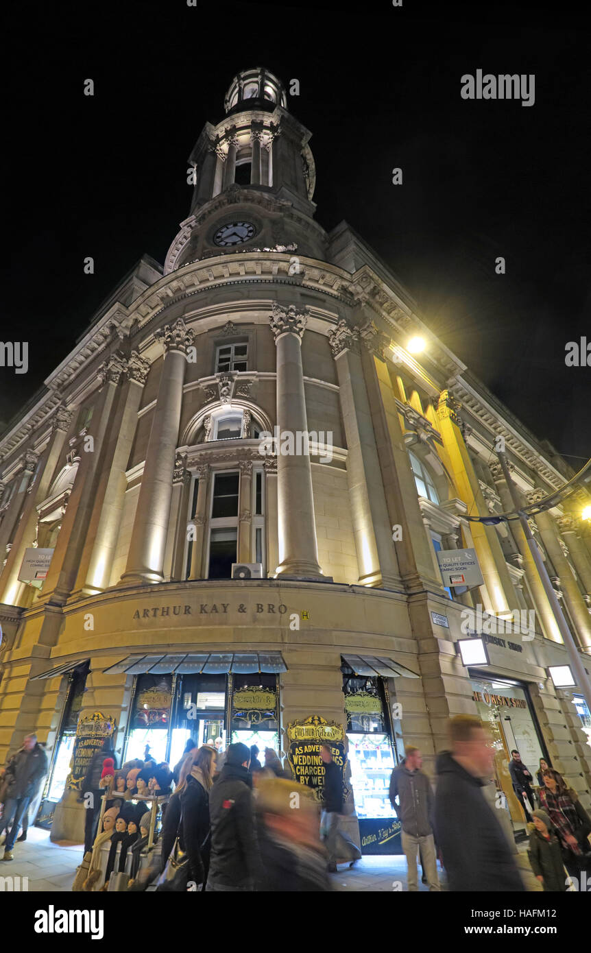 Manchester Royal Exchange Theatre at Night, England, UK - Stock Image