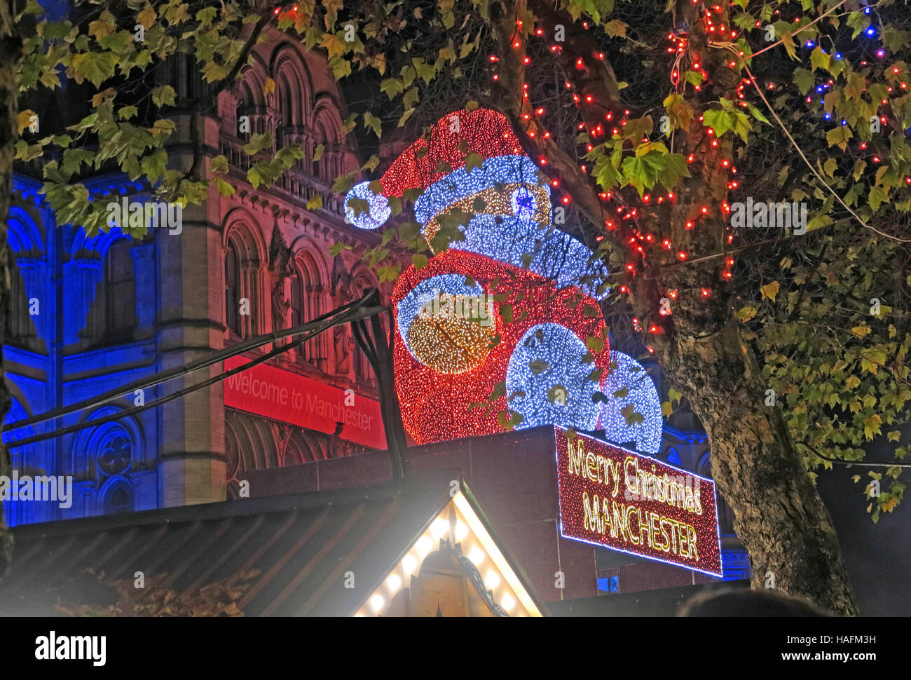 Manchester Christmas Markets December, North West England , UK - Stock Image