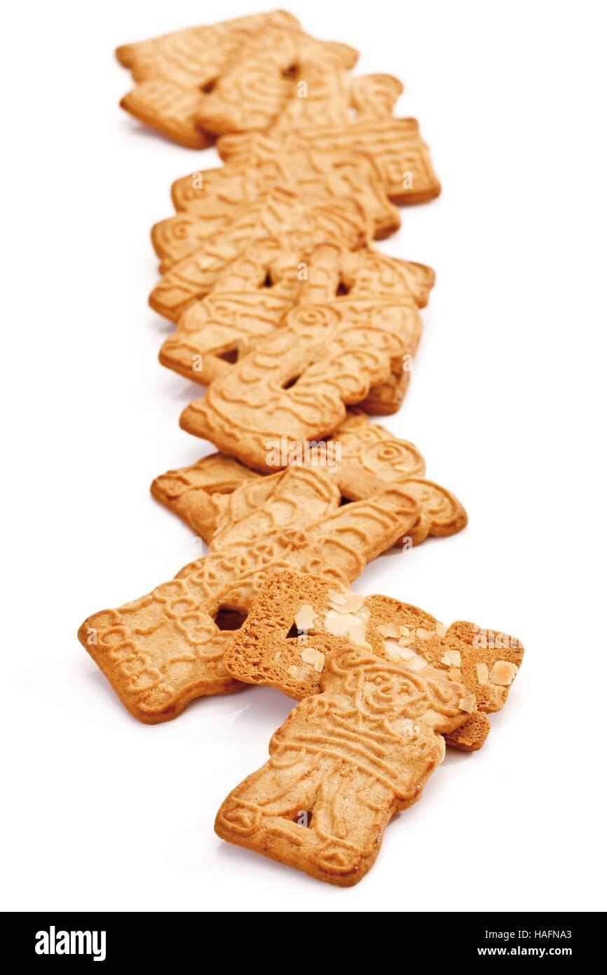 Almond Spekulatius Biscuits Stock Photo 126965163 Alamy