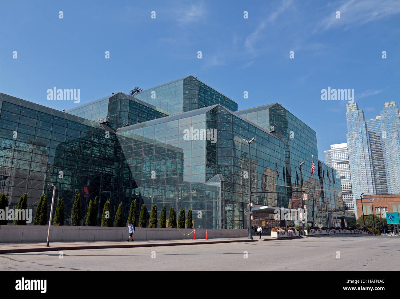 The Jacob K. Javits Convention Center (Javits Center) in Hell's Kitchen, Manhattan, New York City, United States. Stock Photo