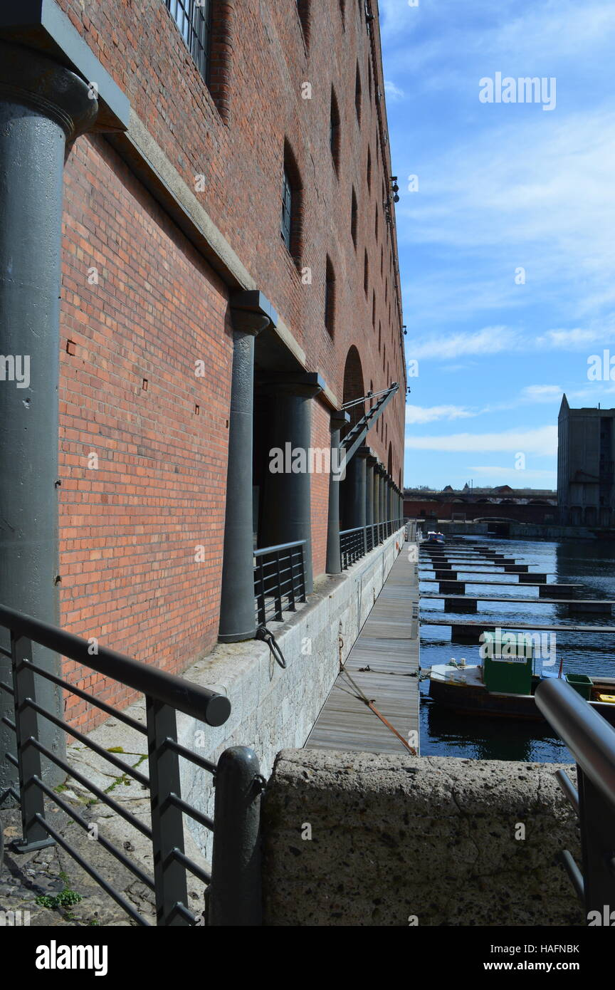 Dock side view of the Titanic Hotel, Stanley Dock, Liverpool Stock Photo