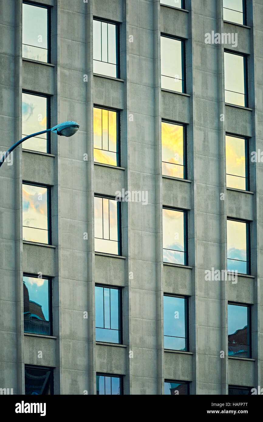Repetition pattern on an office building. Madrid. Spain - Stock Image