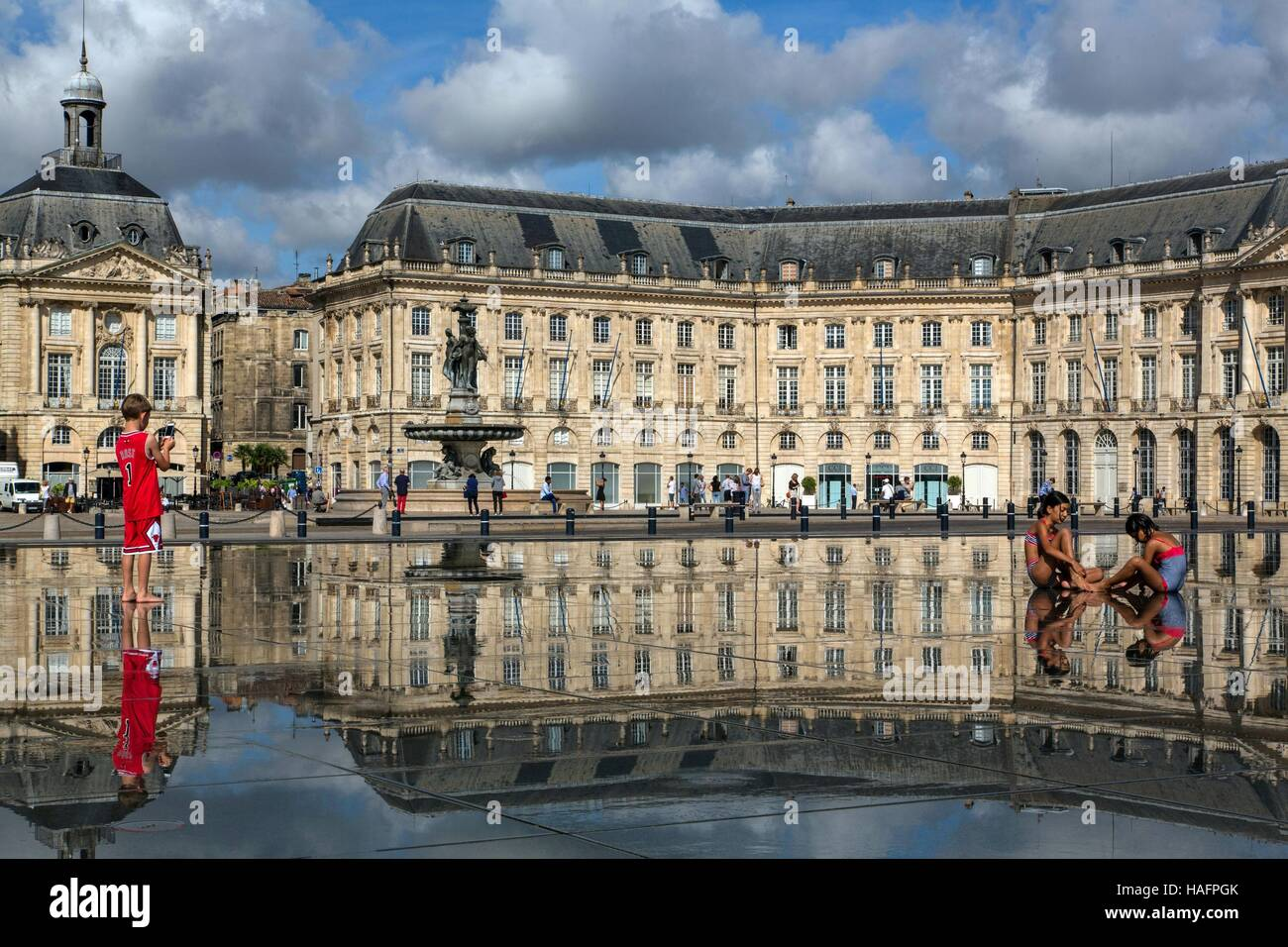 ILLUSTRATION OF THE CITY OF BORDEAUX, (33) GIRONDE, AQUITAINE, FRANCE - Stock Image