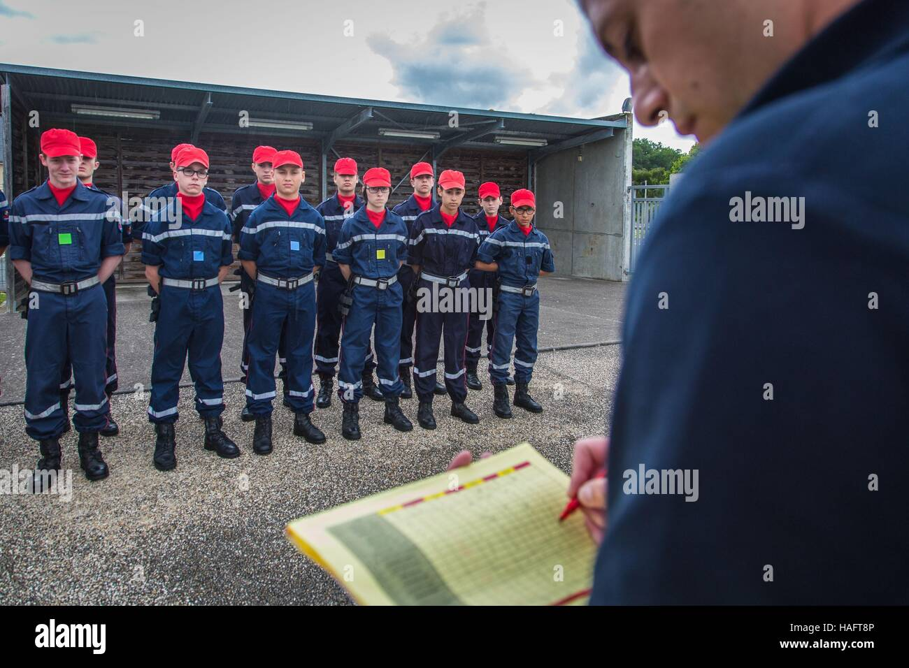 YOUNG FIREFIGHTERS, JSP - Stock Image