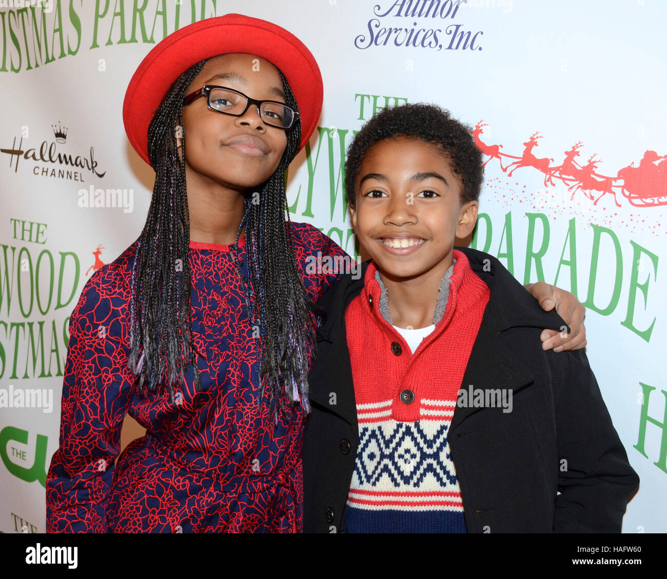 The Christmas Parade Hallmark.Marsai Martin And Miles Brown Arrives At The 85th Annual