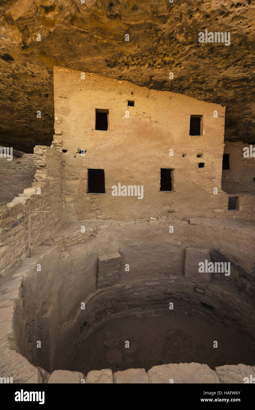 Colorado, Mesa Verde National Park, Spruce Tree House - Stock Image