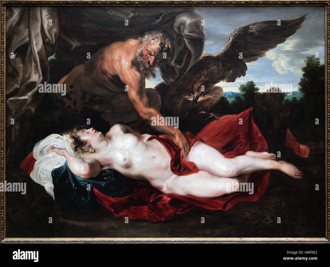 Anthony van Dyck 1599-1641 Jupiter and Antiope 1620 - Stock Image