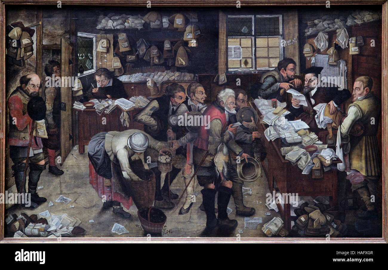 Pieter Brueghel the Younger or Pieter Bruegel the Younger 1564-1638 Village Lawyer 1621 - Stock Image