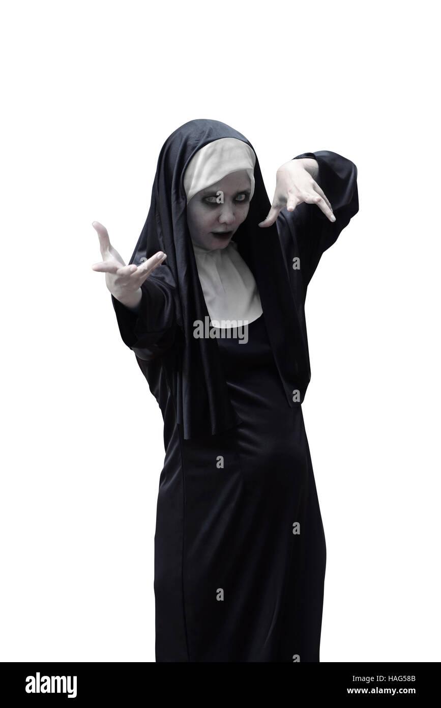 asian woman devil nun isolated stock photos & asian woman devil nun