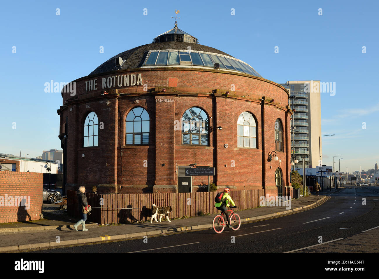 The northern Rotunda restaurant in Finnieston, Glasgow, Scotland, UK - Stock Image