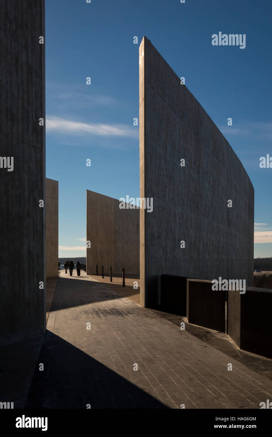 Shanksville, Pennsylvania - The visitor center complex at the Flight 93 National Memorial. - Stock Image