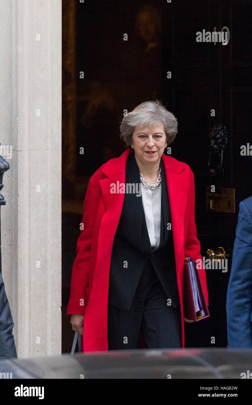 Theresa May, the British Prime Minister, leaving 10 Downing Street, London, Britain - Stock Image
