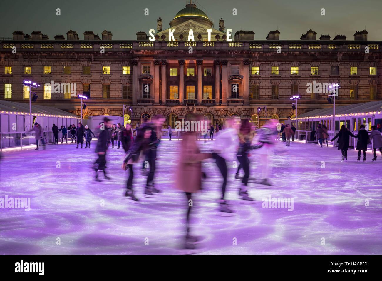 London, UK. 30th Nov, 2016. Somerset House Ice Rink Credit:  Guy Corbishley/Alamy Live News - Stock Image