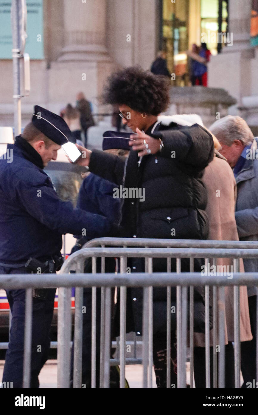 Paris, France. 30th Nov, 2016. Guests arriving at the Victoria's Secret Show held at the Grand Palais. Credit: - Stock Image