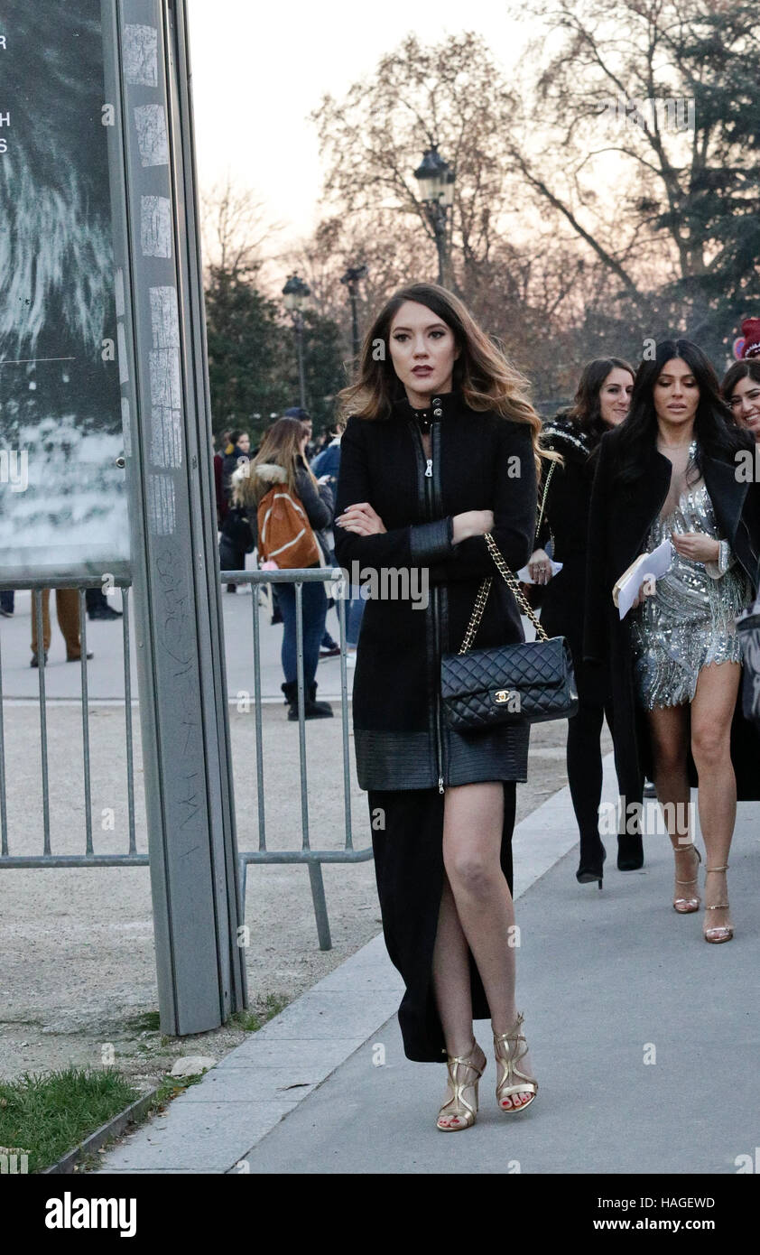 Paris,France. 30th Nov. 2016.Guess arriving to the Victoria's Secret Show held at the Grand Palais. - Stock Image