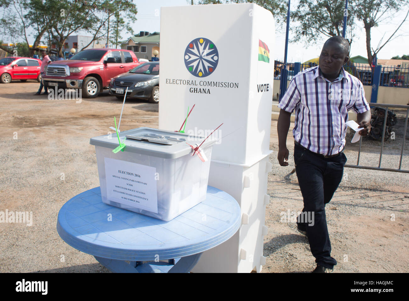 Accra, Ghana  1st Dec, 2016  Early Voting taking place today ahead