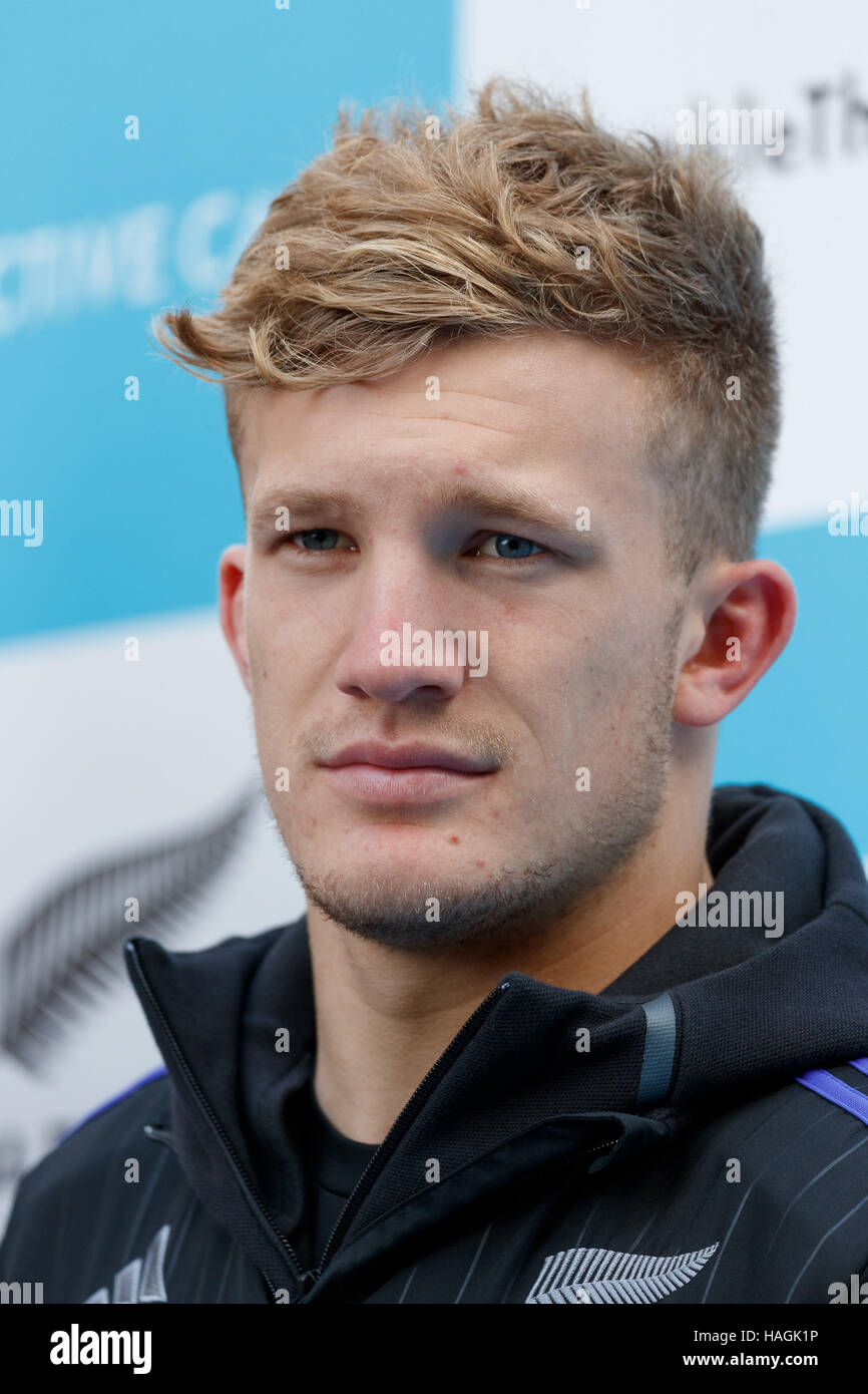 Tokyo Japan 1st Dec 2016 Damian Mckenzie A Member Of The New