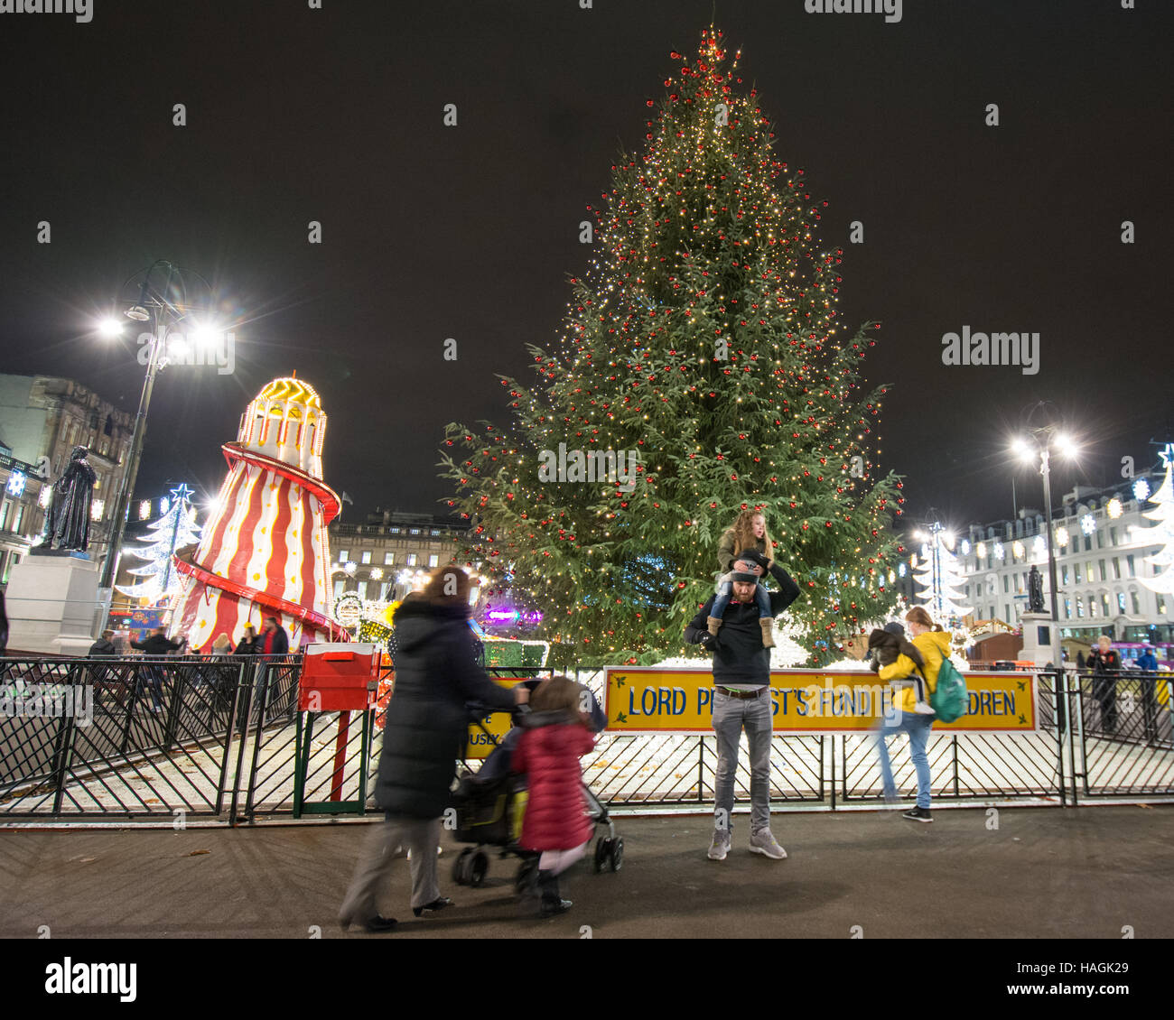 glasgow christmas market stock photos  u0026 glasgow christmas