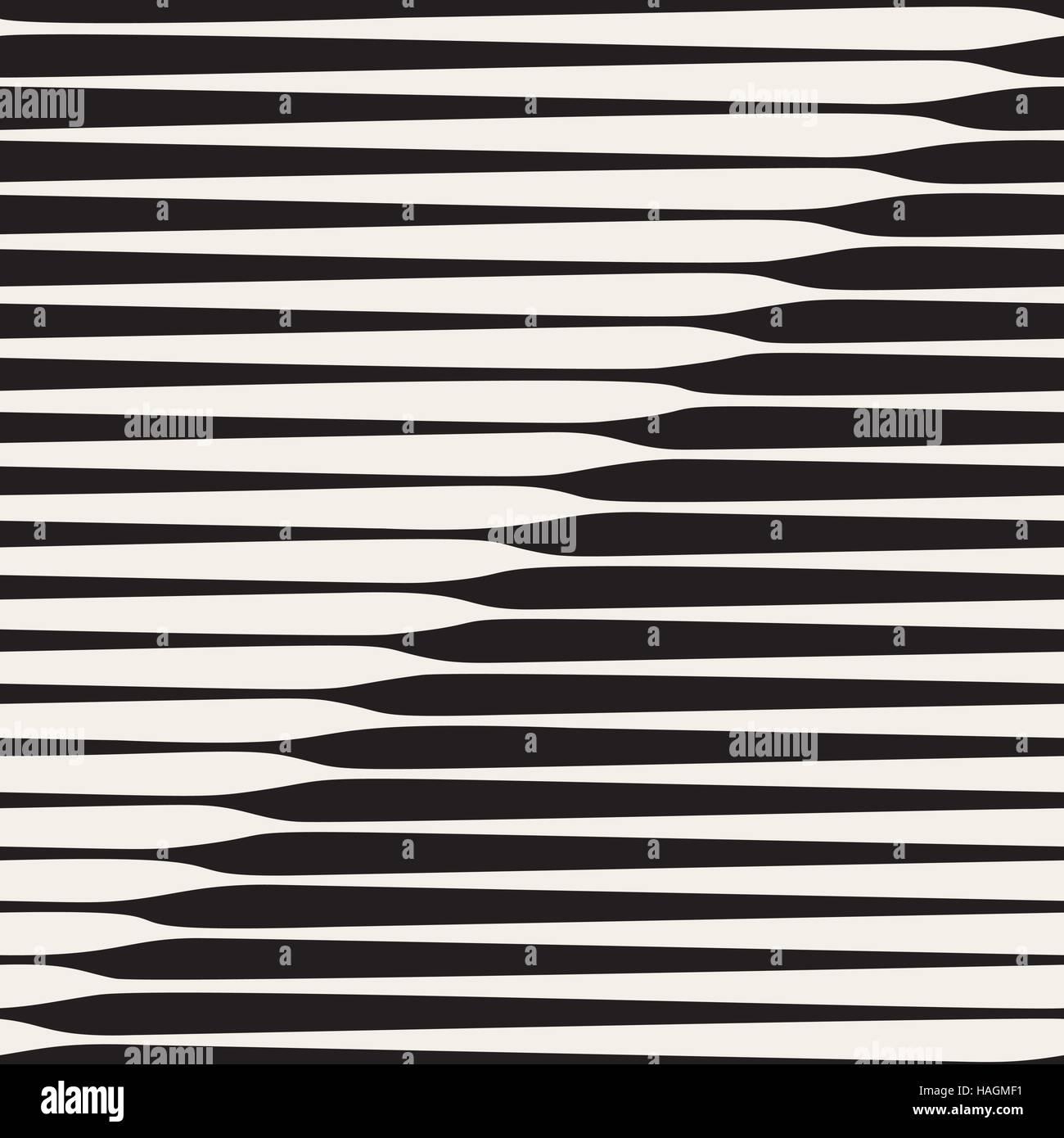 Vector Seamless Black and White Diagonal Halftone Stripes Pattern - Stock Image
