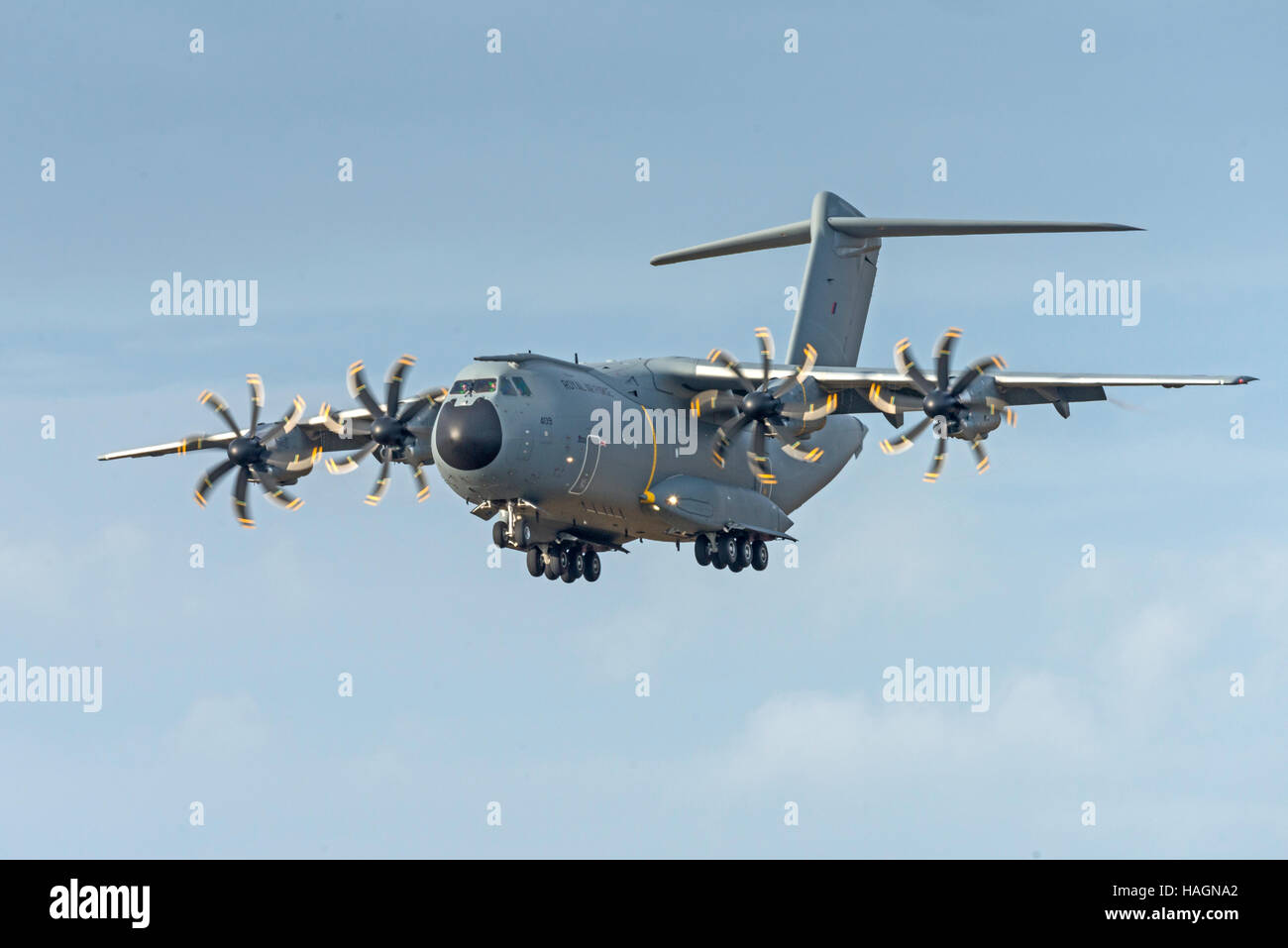 A400 atlas Raf Valley Anglesey North Wales Uk - Stock Image