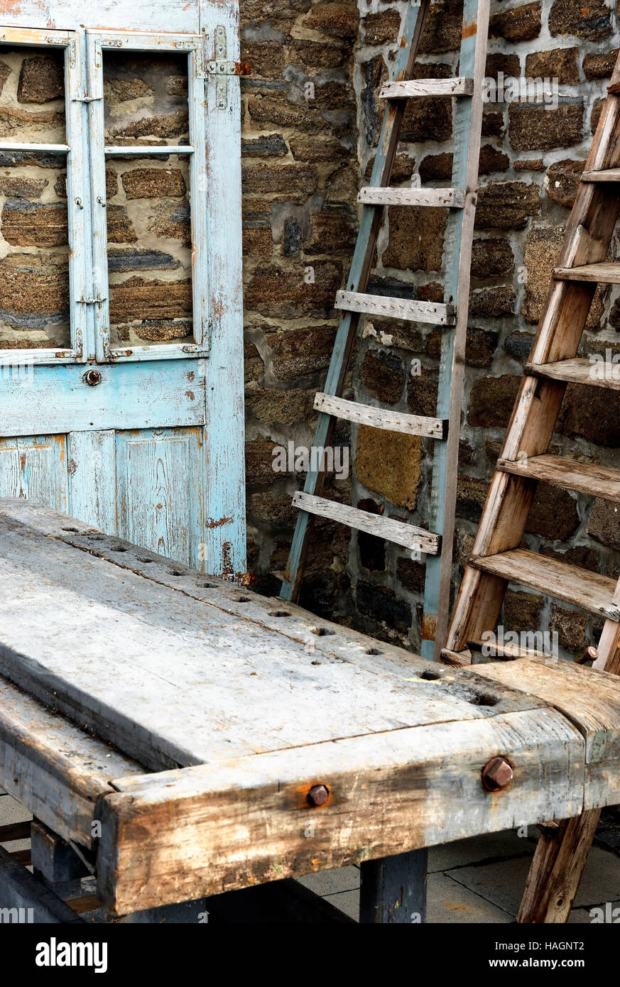 Old house equipment Stock Photo