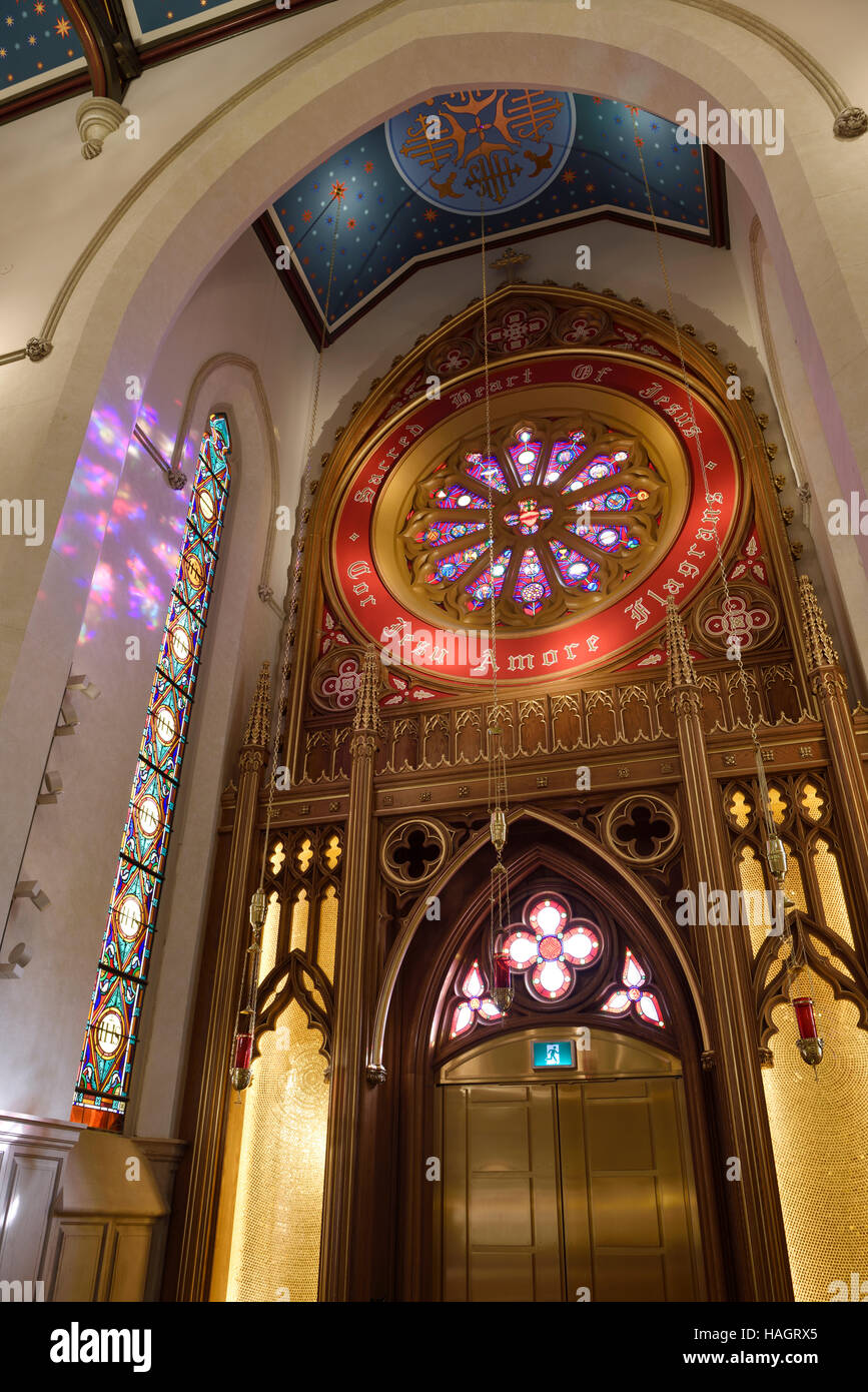 Sacred Heart of Jesus side Chapel in St Michael's renovated Cathedral Toronto - Stock Image