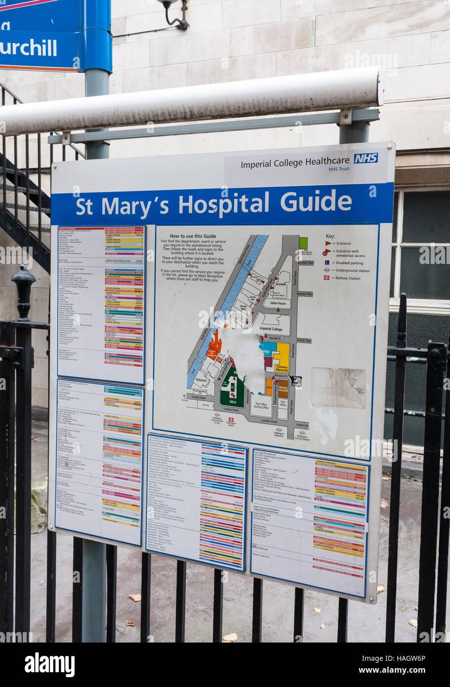 St Mary\\\\\\\'s Hospital Map Outside map of the St Mary's hospital, Paddington, London, UK