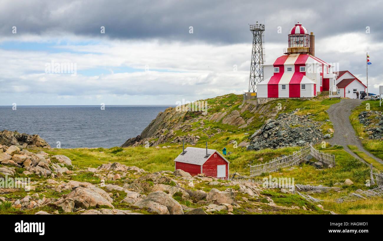 Cape Bonavista Lightstation, Newfoundland, Canada.  Lighthouse station LL 449. - Stock Image