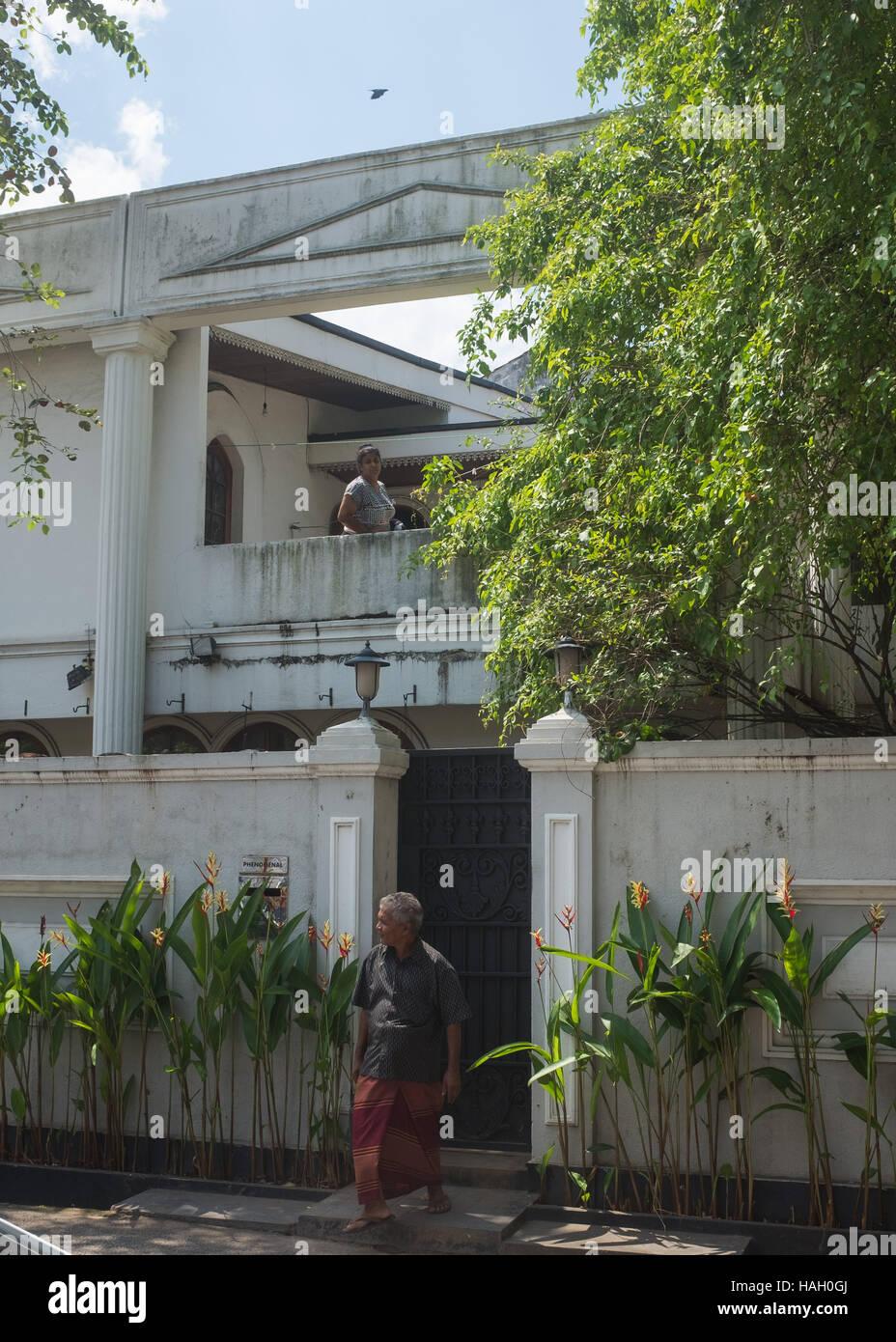 Old style villa in Colombo, Kollupitiya,Sri Lanka Stock Photo