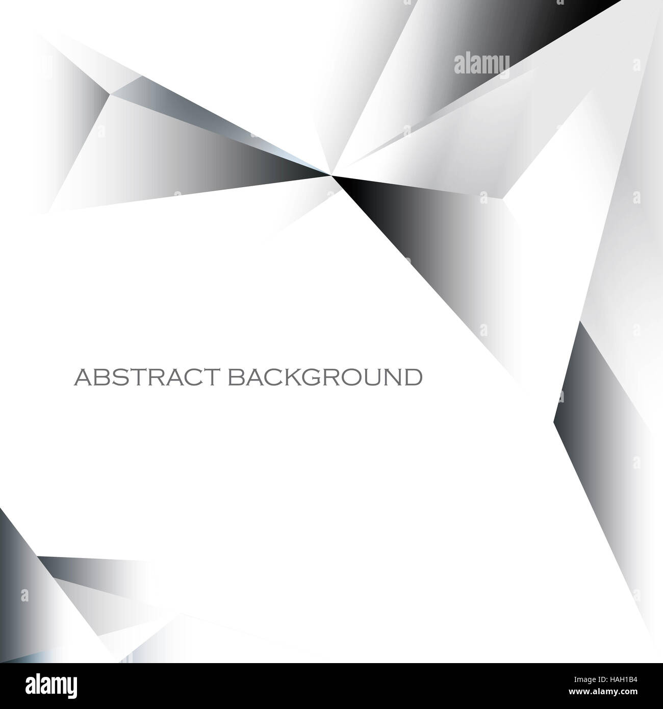 Abstract simplistic gradient geometrical background in grayscale - Stock Image