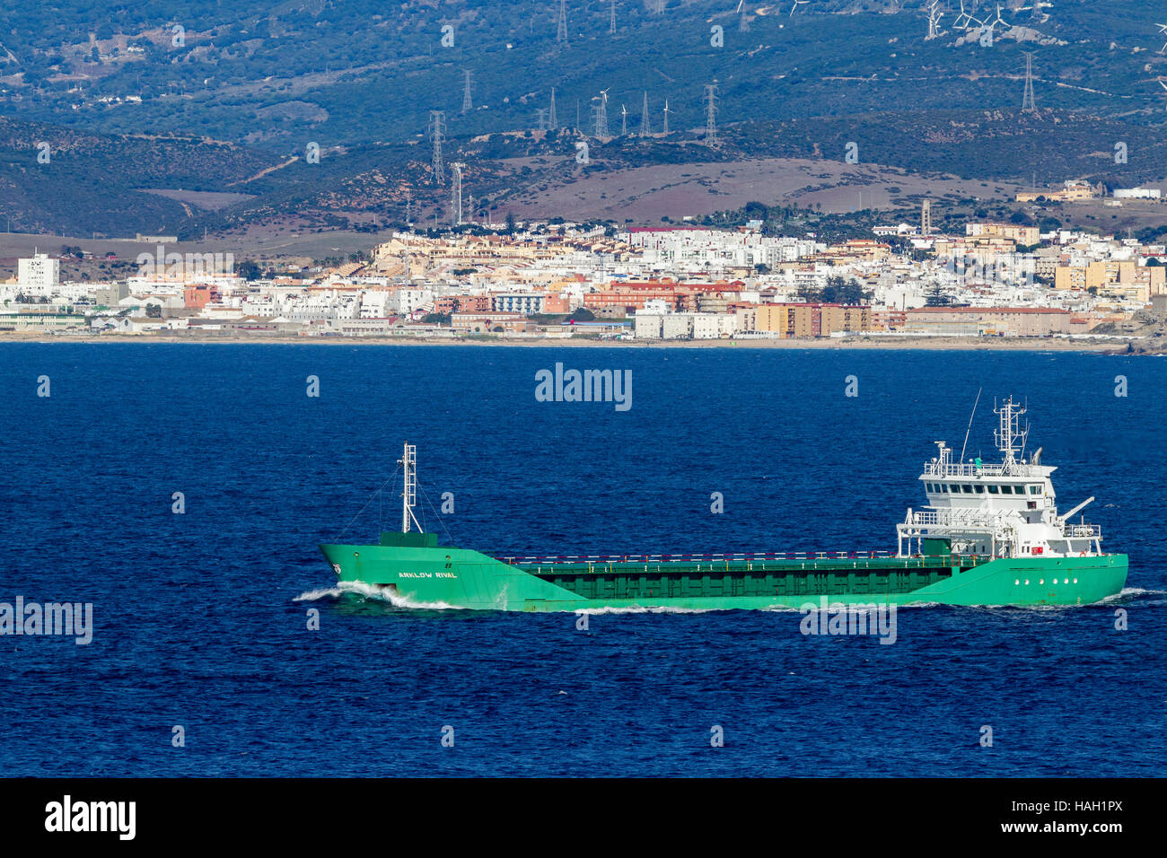 Ark low Rival, general Cargo ship of Gibraltar. - Stock Image