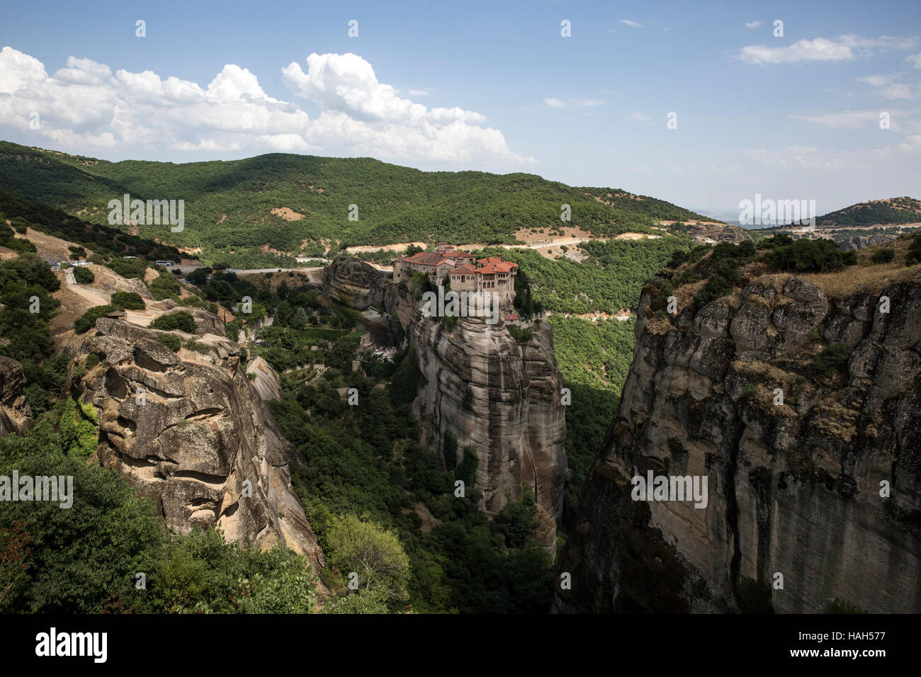 The Monastery of Varlaam, Meteora on July 15, 2016. - Stock Image
