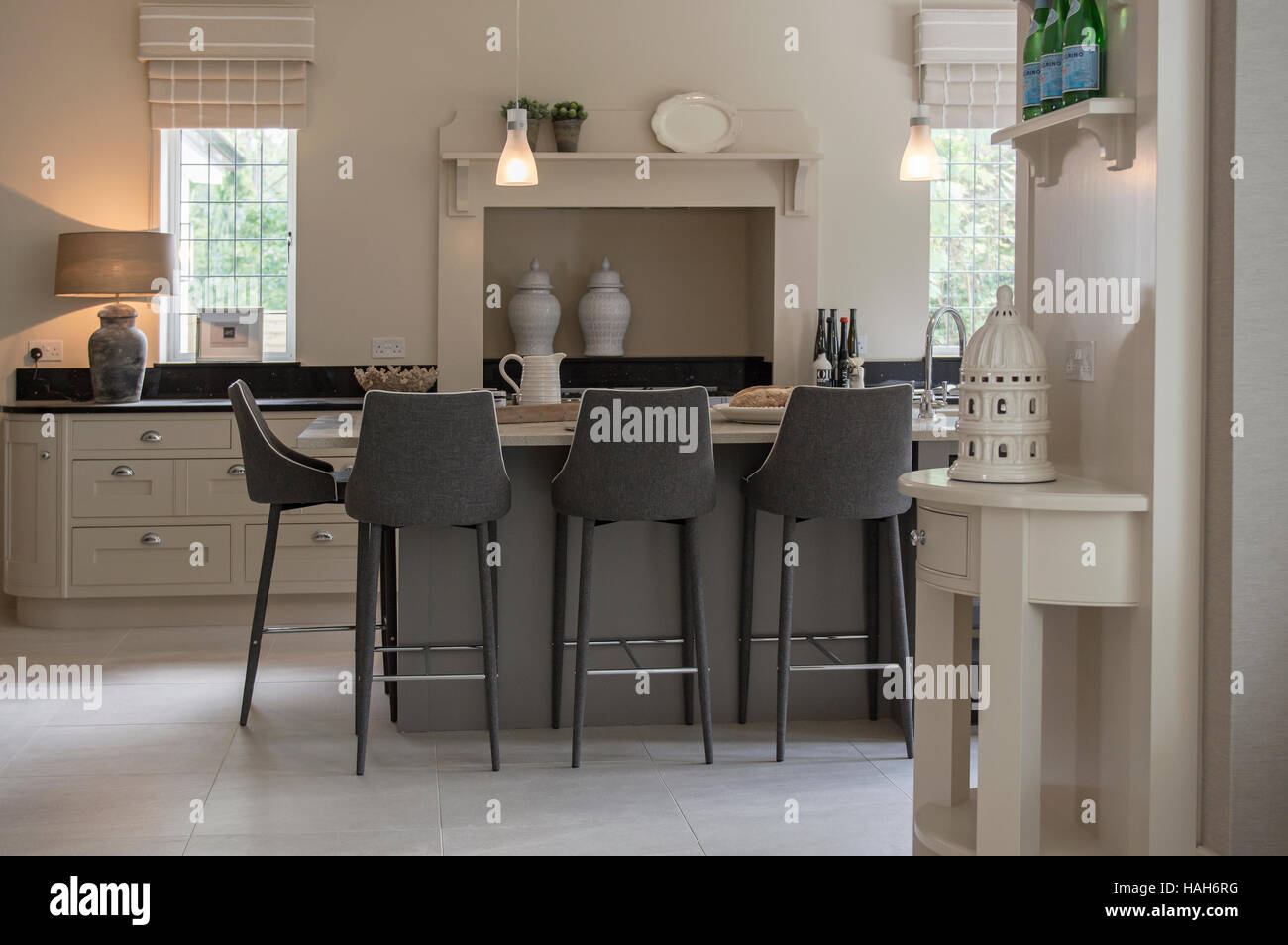 Interior of luxury house in England Stock Photo