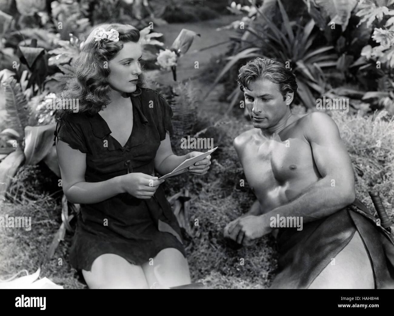 Tarzan's Magic Fountain Year : 1949 USA Director : Lee Sholem Lex Barker, Brenda Joyce - Stock Image