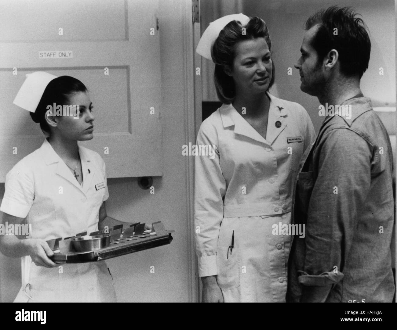One Flew Over The Cuckoo's Nest Year : 1975 USA Director : Milos Forman Louise Fletcher, Jack Nicholson - Stock Image