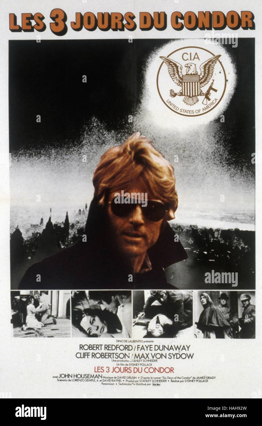 The Three Days Of The Condor Year 1975 Usa Director Sydney Pollack Movie Poster Fr