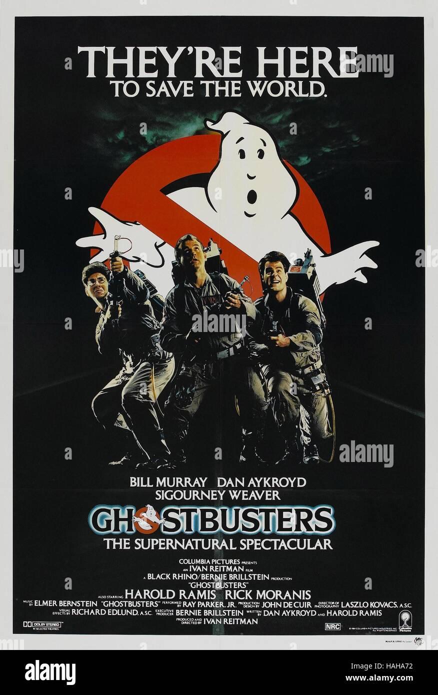 Ghostbusters Year 1984 Usa Director Ivan Reitman Harold Ramis